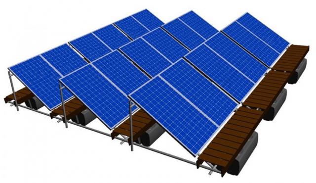 Vlot met solarpanelen